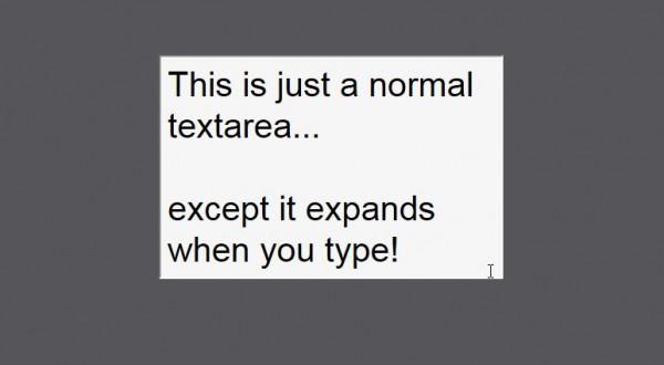 ExpandingTextareas